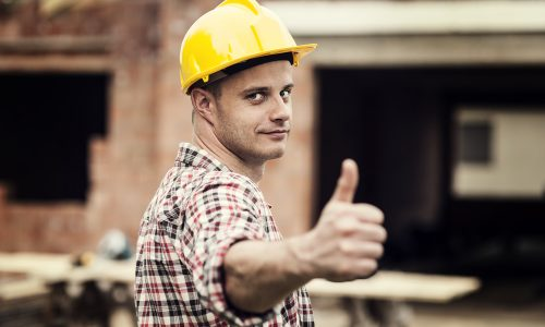 Workman thumbs up