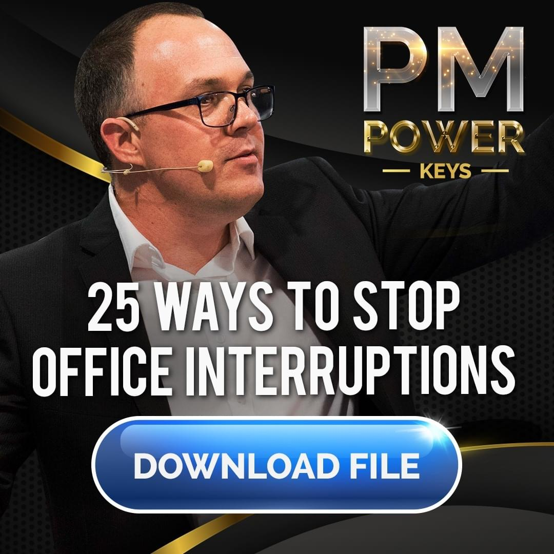 25 ways to stop office interruptions